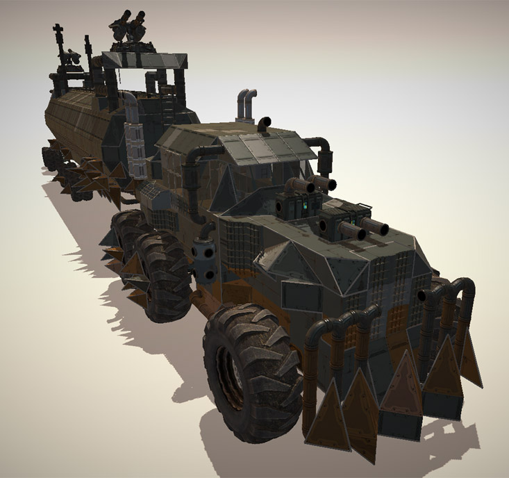 The only thing missing is the skulls - War Rig from Mad Max recreated in the Editor.