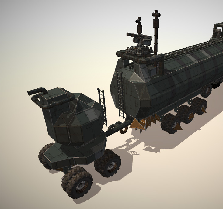 The War Rig from Mad Max recreated in the Editor - rear view