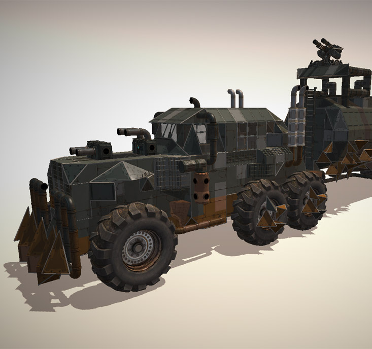 The Mad Max War Rig is actually based on TATRA T815, a truck manufactured some 40 km from our office