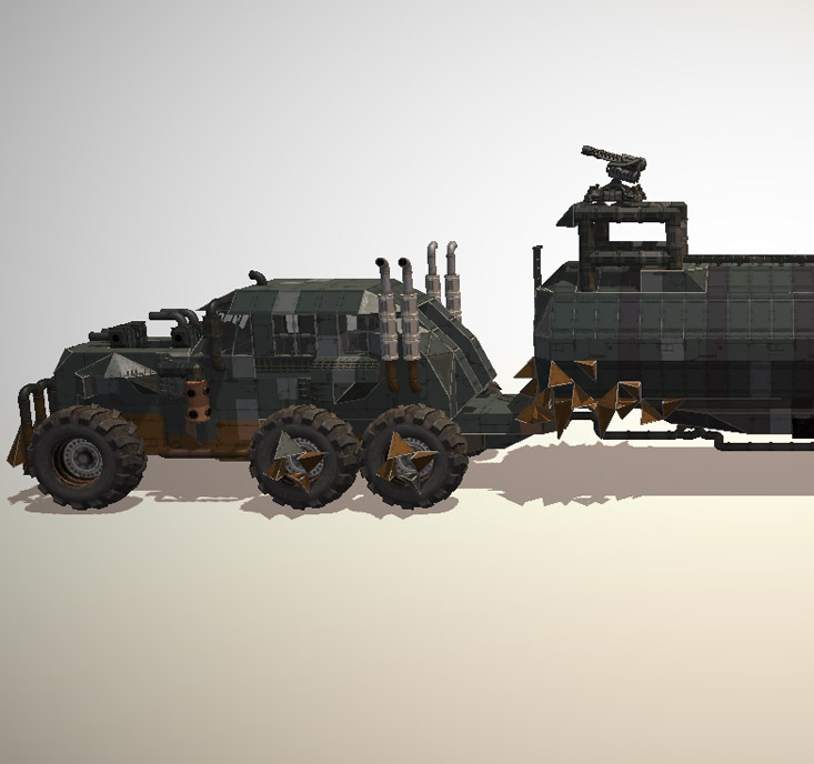 The War Rig from Mad Max recreated in the Editor - full view