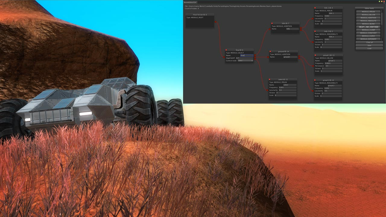 Voxel Based Procedural Terrain Engine Is Being Born for the