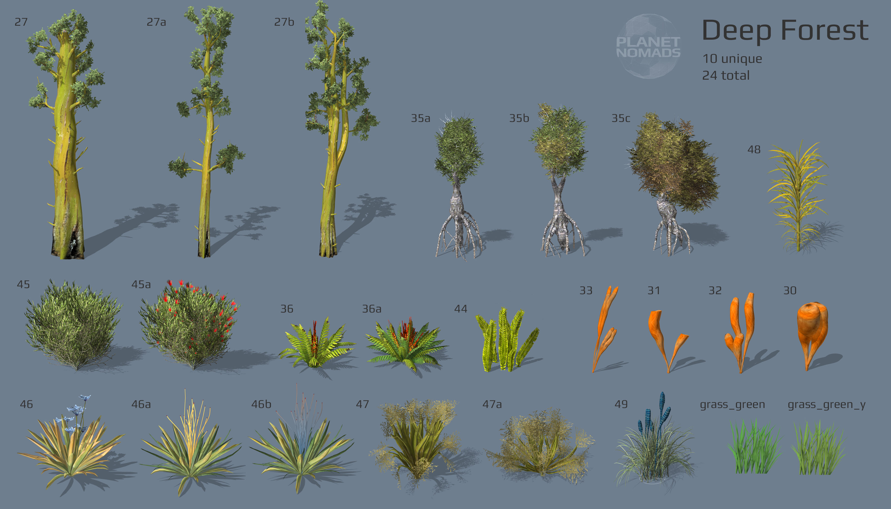 Deep Forest World Objects