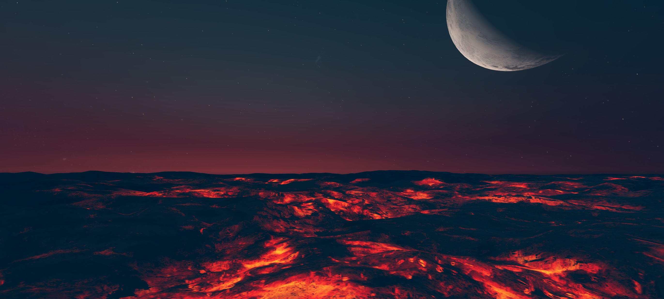 Lava Word in Planet Nomads at Night